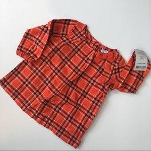 NWT Carter's Kids Red Plaid Girls Dress - 9 months